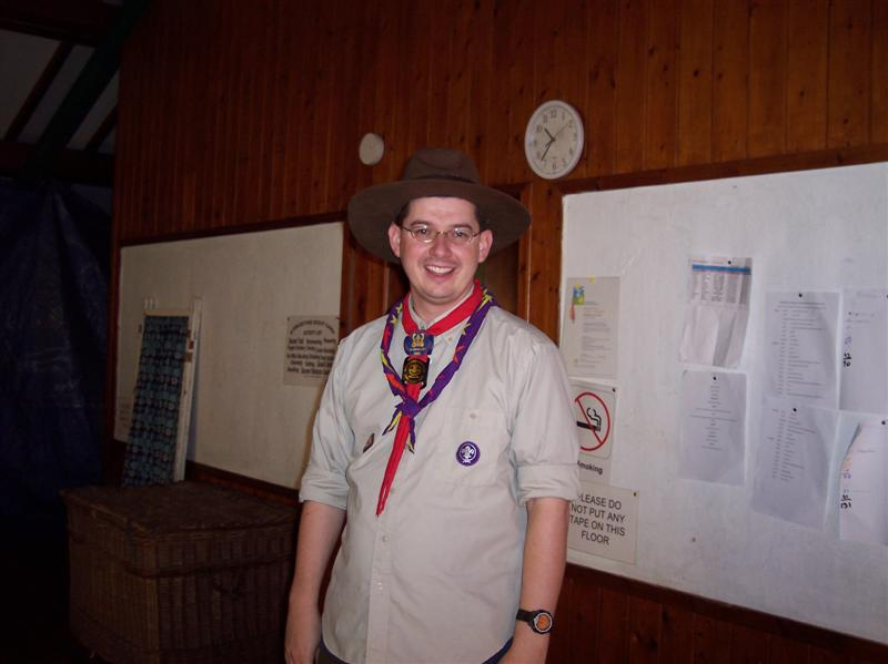 Me in Scout hat
